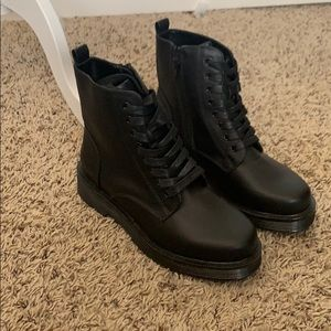 Wild Fable Black Combat Boots Size 6